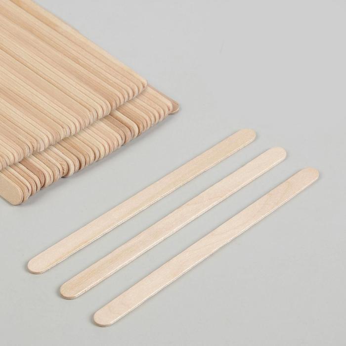Шпатель для депиляции, деревянный, 11,4 × 1 см