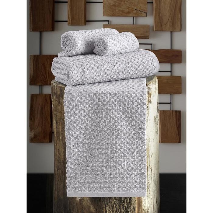 Полотенце Dama 40x60 см, цвет серый - фото 7929807