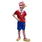 """Карнавальный костюм """"Буратино"""", текстиль, р-р 34, рост 134 см"""