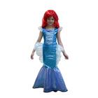 Детский карнавальный костюм «Русалочка», платье, парик, р. 34, рост 134 см