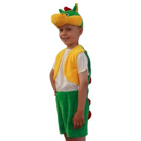 Карнавальный костюм «Дракон», жилетка, шорты, маска-шапочка, р. 30-32, рост 122 см