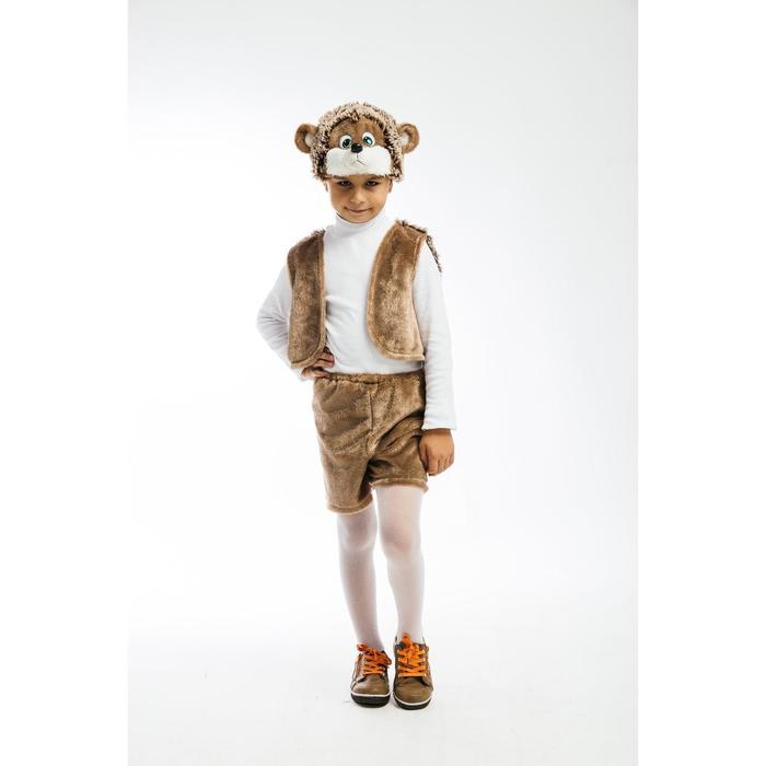 Карнавальный костюм «Ёжик», жилетка, шорты, маска-шапочка, рост 122 см - фото 106529561
