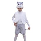 """Карнавальный костюм """"Котенок"""", 3 предмета: жилетка, шорты, маска-шапочка. Рост 122-128 см"""