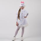 """Карнавальный костюм """"Белая кошечка"""", пелерина, юбка, маска-шапочка, рост 122-128 см"""