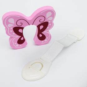 """Набор блокираторов """"Бабочки"""": стопер EVA, универсальный гибкий, 2 шт"""