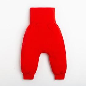 """Ползунки-штанишки Крошка Я """"Санта"""", рост 86-92 см, красный"""
