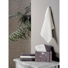 Набор полотенец в корзине Flori 30х30 см - 6 шт, цвет коричневый