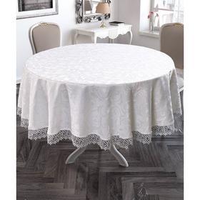 Скатерть круглая 160 см, цвет белый
