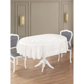 Скатерть овальная Caramel 160х220 см, цвет кремовый