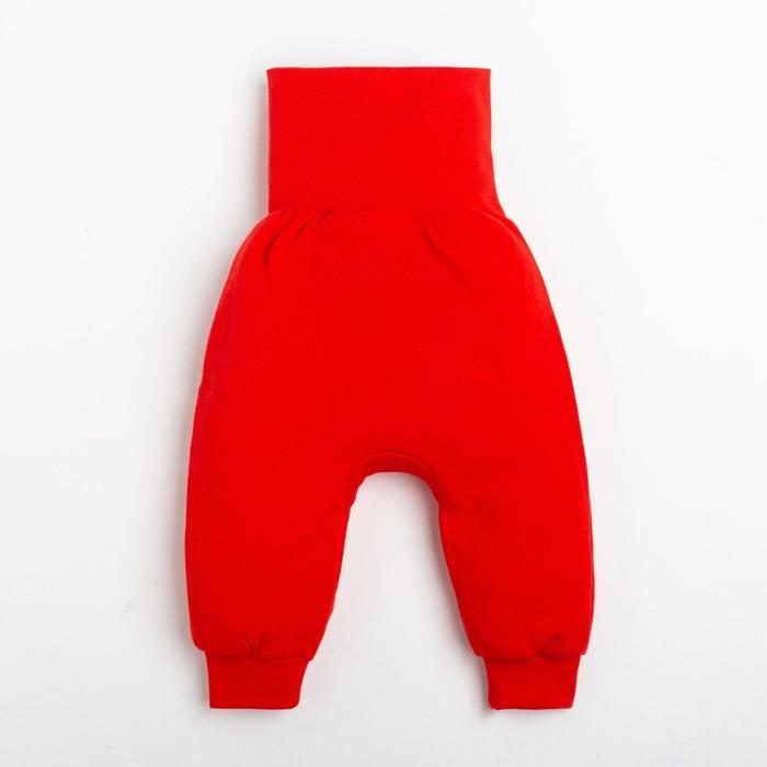 """Штанишки Крошка Я """"Санта"""", рост 62-68 см, красный - фото 105712324"""