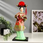 """Doll collection """"Chinese woman in traditional dress with fan"""" 335х12,5x12,5 cm"""