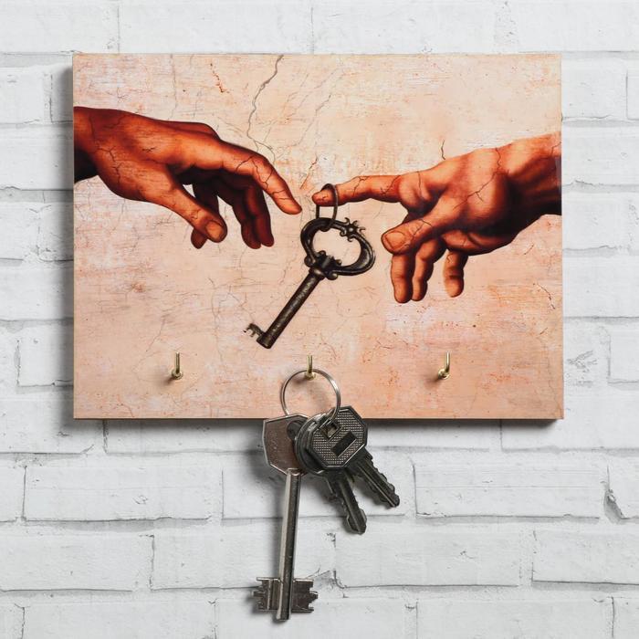 "Ключница ""Руки"" ключ, 12 х 16 см - фото 494446"