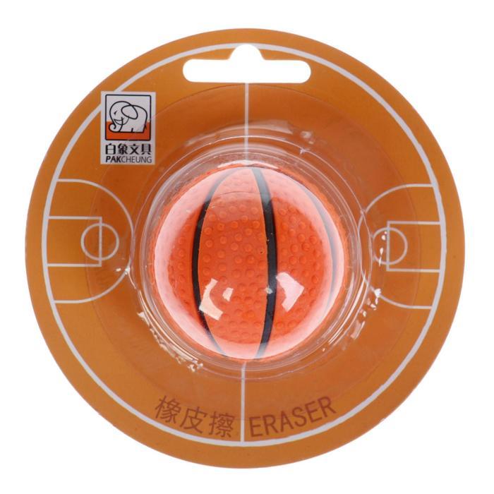 Ластик фигурный Баскетбольный мяч на блистере (штрихкод на штуке)