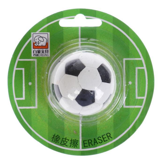 Ластик фигурный Футбольный мяч на блистере (штрихкод на штуке)
