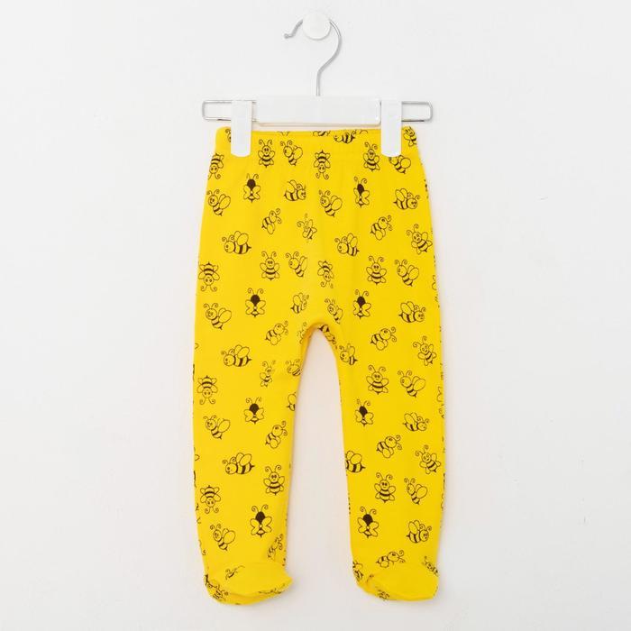 Ползунки детские, цвет жёлтый, рост 68 см - фото 2030442
