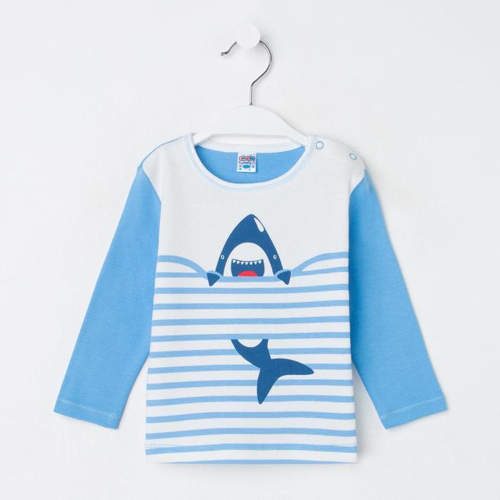 Кофточка детская, цвет голубой, рост 80 см - фото 2033691