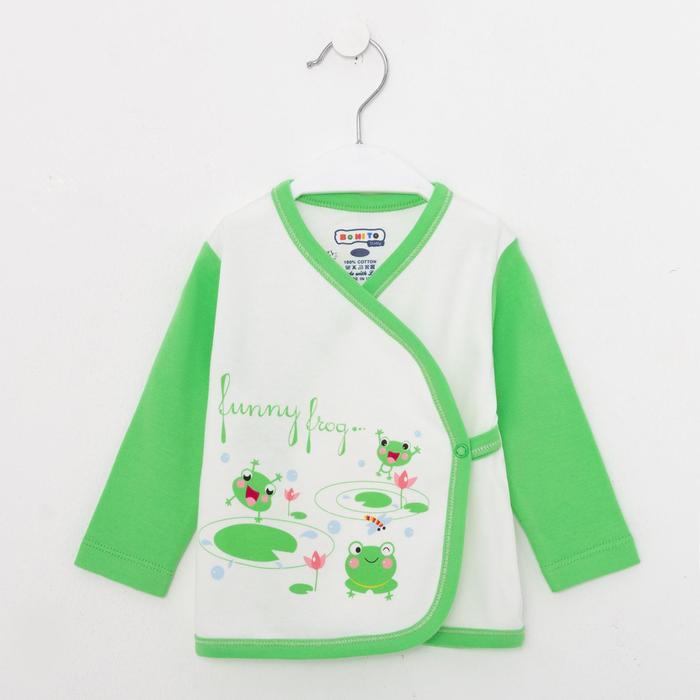 Распашонка детская, цвет салатовый, рост 62 см - фото 76471274