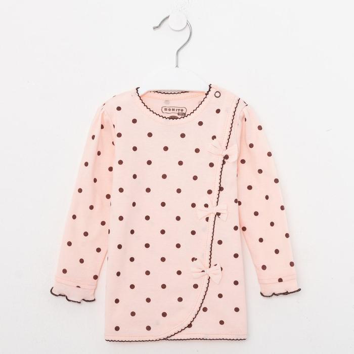 Кофточка детская, цвет персиковый, рост 62 см - фото 2054421