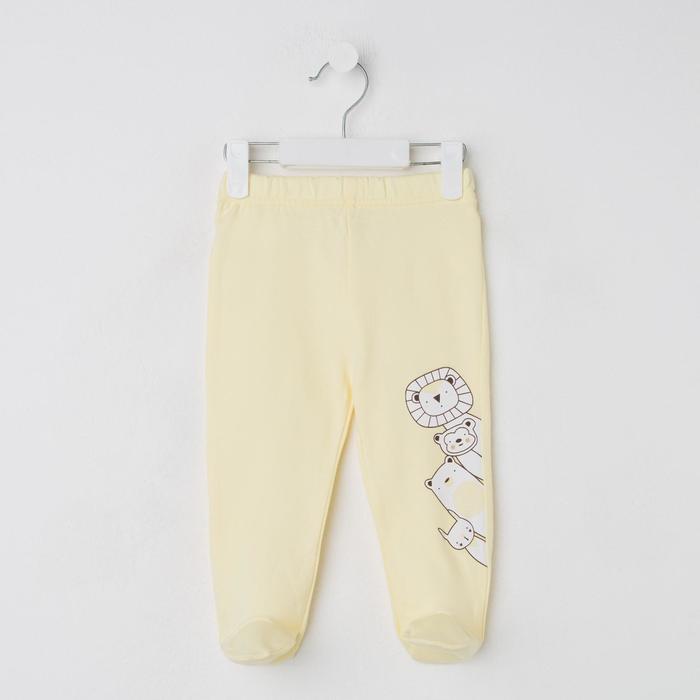 Ползунки детские, цвет жёлтый, рост 74 см - фото 76471185