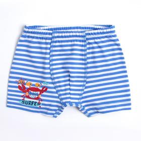 Трусы для мальчика, цвет голубой/полоска, рост 104 см