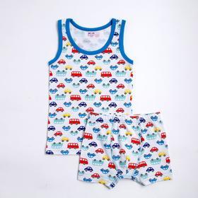 Комплект для мальчика, цвет тёмно-голубой, рост 92 см