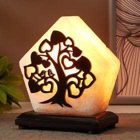 """Соляной светильник с диммером  """"Дерево малое"""" Е14 15Вт 1,3 кг белая соль 13х8х15 см"""