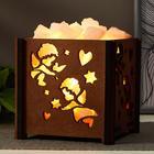 """Salt lamp with dimmer """"Basket B Angels"""" E14 15W 14х14х18 cm"""