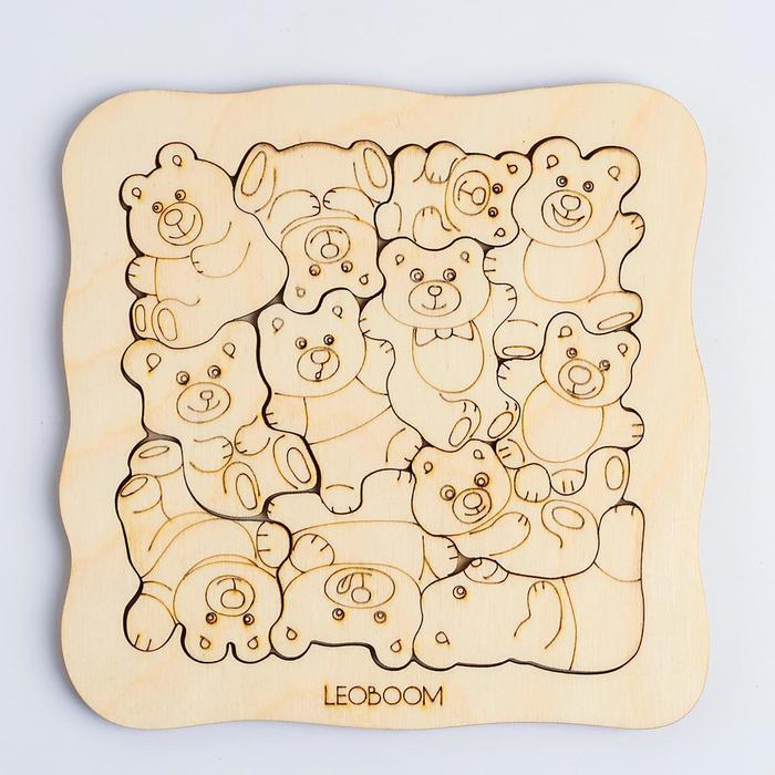 Пазл-раскраска «Мишки - малышки» - фото 105606599