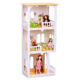 Домик для кукол «Дом Жасмин», цвет бело-салатовый (с мебелью)