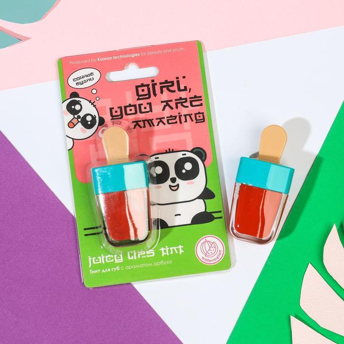 Тинт для губ Girl, you are amazing: аромат арбуза