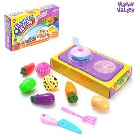 Игровой набор «Готовим вместе на сковороде», с овощами для нарезки