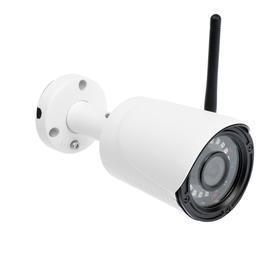 Видеокамера уличная Si-Cam SC-401 32FМ IR IP, 4 Мп, 1520Р,  f=3.6 мм, Wi-Fi, MIC, SD, белая