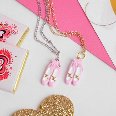 """Pendant children's """"Vibracula"""" Pointe shoes, color pink and white chain MIX"""