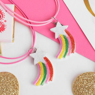 "Pendant children's ""Vibracula"" star, rainbow, color"