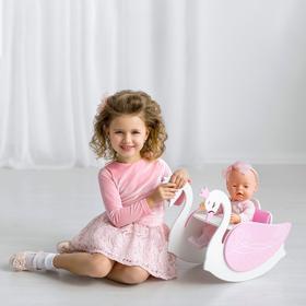 Игрушка детская «Изящный лебедь» 2в1 (стул для кормления с качалкой), коллекции «Shining Crown»