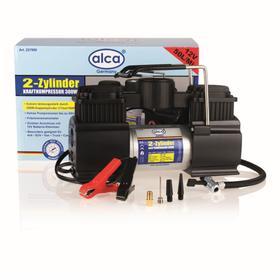 Компрессор двухцилиндровый 11 бар, 300 Вт, 12 В, с зажимами для батареи, ALCA