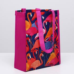 """Сумка-шоппер """"Фламинго"""", 26 х 32 х 12 см"""
