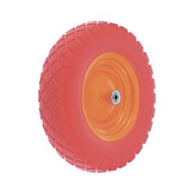 Колесо полиуретановое 4.80/4-8, длина оси 90мм, подшипник 12мм//Palisad