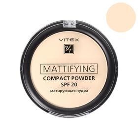 Матирующая пудра для лица Mattifying compact powder SPF20 компактная, тон 01 Porcelain