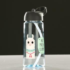 "Water bottle 550 ml of ""Cute little animals"" with the drinking bowl, mix 8.5 × 20 cm"