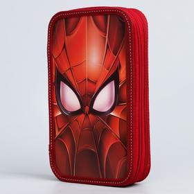 """Пенал """"Человек-паук"""", 2 секции,  125х205х40 мм,Человек-паук"""