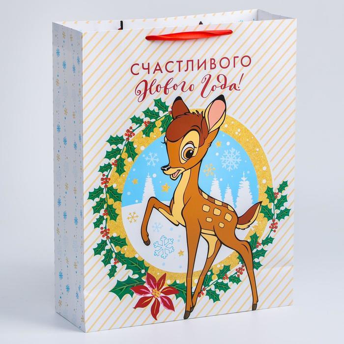 """Пакет ламинат вертикальный """"С Новым годом!"""", 31х40х11 см, Дисней"""