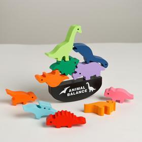 Развивающая игра балансир «Динозавры» 13×20,5×3 см
