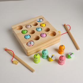 Игрушка развивающая рыбалка «Рыбки + пчёлки» 16×16×4 см
