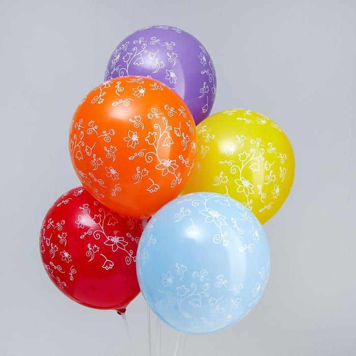 "Balloon latex 12"" ""Patterns"" set 15 PCs., MIX"