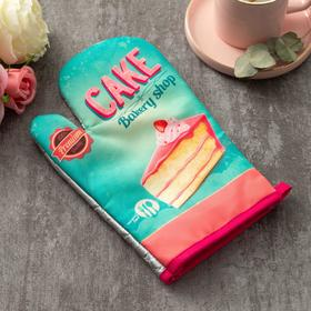 "Варежка Доляна ""Cake""цв.голубой 26*16 см, 100% п/э"