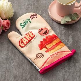 "Варежка Доляна ""Cake""цв.бежевый 26*16 см, 100% п/э"