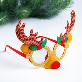 Карнавальные очки «Олень», цвета МИКС