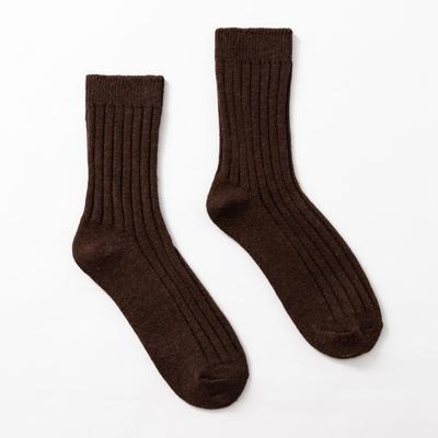 "Socks men's warm Collorista ""Solid"" brown, R-R 25-27"