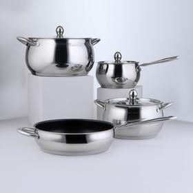 Cookware set 4 piece 'Tanto', 2 l, 3.8 l, 6.6 l , a/p pan 2,9 l, induction